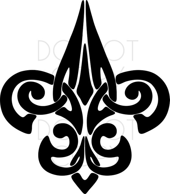 image about Fleur De Lis Printable named Mardi Gras Tribal Fleur De Lis SVG Slice Printable Immediate Obtain. Svg, Eps, Dxf, Ai, Png, Jpeg for Cricut, Silhouette, and printers
