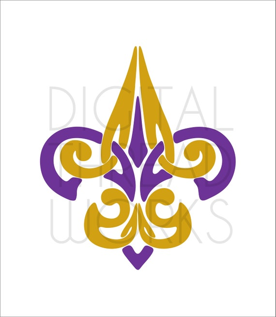 image about Fleur De Lis Printable named Mardi Gras Tribal Fleur De Lis SVG Slash Printable Fast Down load. Svg, Eps, Dxf, Ai, Png, Jpeg for Cricut, Silhouette, and printers