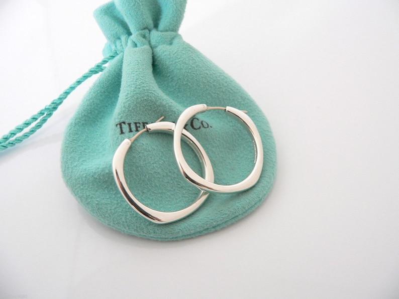 3d55c0e90 Tiffany & Co Silver Large Huge Cushion Square Hoop Earrings | Etsy