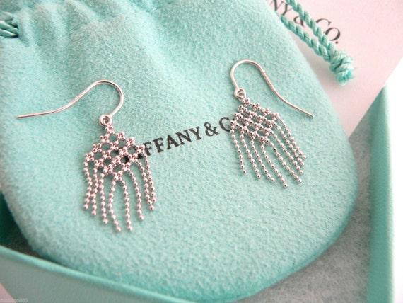 2507c35e5 Tiffany & Co 18K Gold Fringe Flower Bead Dangling Dangle | Etsy