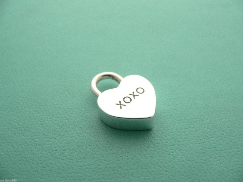 93296e0766983 Tiffany & Co Silver Love and Kisses XOXO Heart Padlock Pendant | Etsy