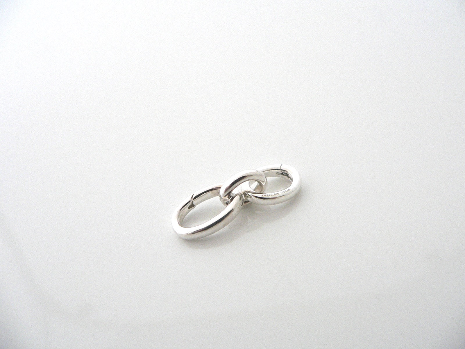 Sterling Silver Squiggle Zig Zag Link Bracelet