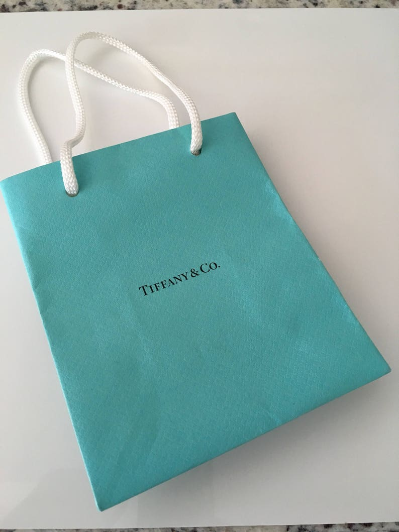 e3f360028f Tiffany & Co Shopping Bag Jewelry Presentation Gift Bag Blue | Etsy