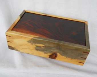 Buckeye Burl keepsake box#197