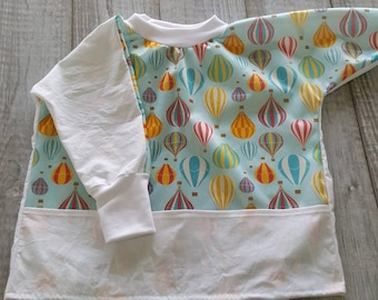 Waterproof bib and scalable - 12 months to 4t - balloon - turquoise