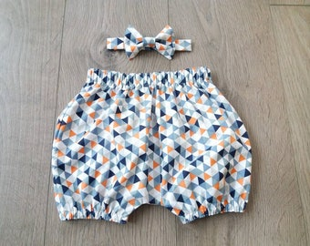 Baby Boy Cake Smash Outfit - Custom Made Bloomer Set - Bloomer and Bow Tie Set - Baby Bloomers - First Birthday - Baby Outfit