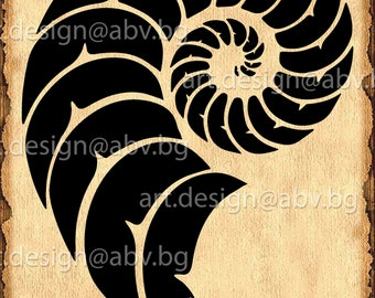 Vector FIBONACCI SPIRAL, horn of goat, AI, png, eps, pdf, svg, dxf, jpg Download files, Digital, graphical, discount coupons