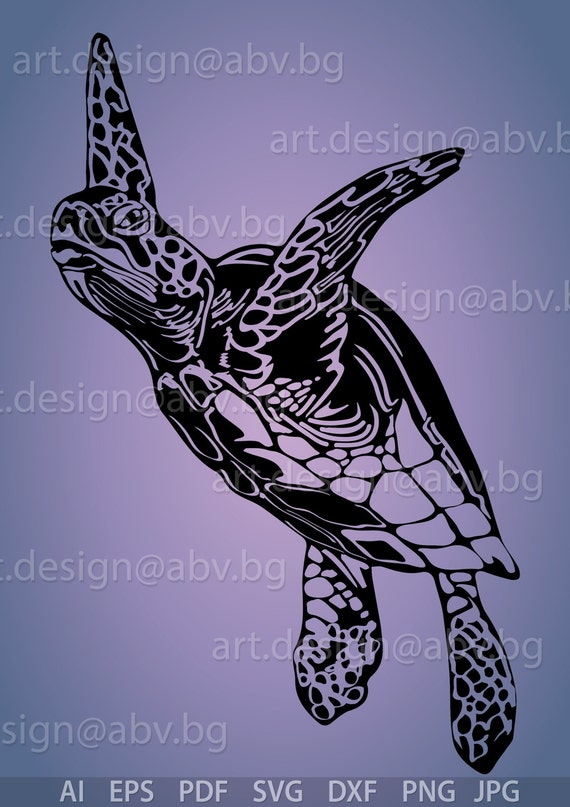 Vector Turtle Svg Dxf Ai Eps Pdf Png Jpg Download Etsy