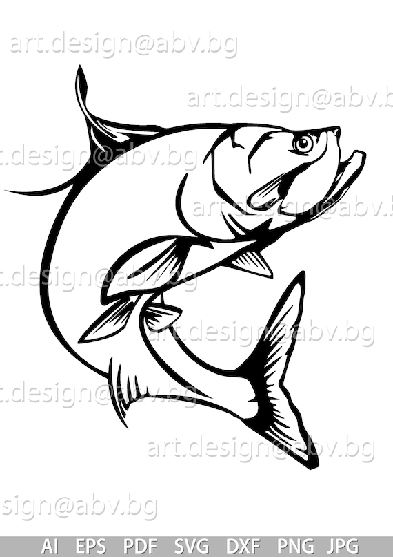 Tarpon peau de pêche Autocollant Photo decal