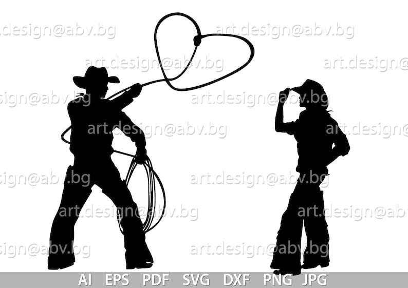 Download Vector COWBOYS LASSO love ai eps pdf svg dxf png jpg | Etsy