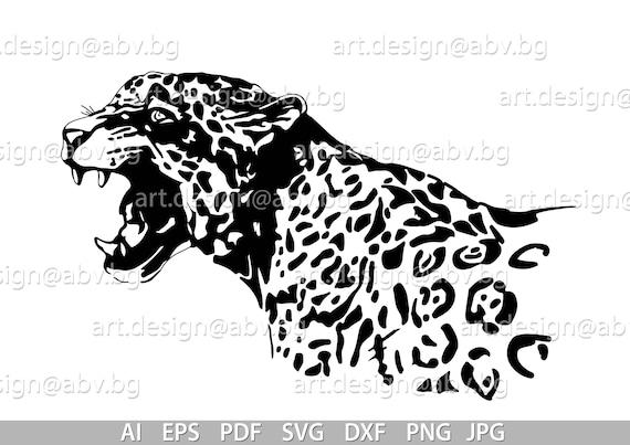 Vector Jaguar Panther American Tiger Ai Eps Pdf Svg Etsy