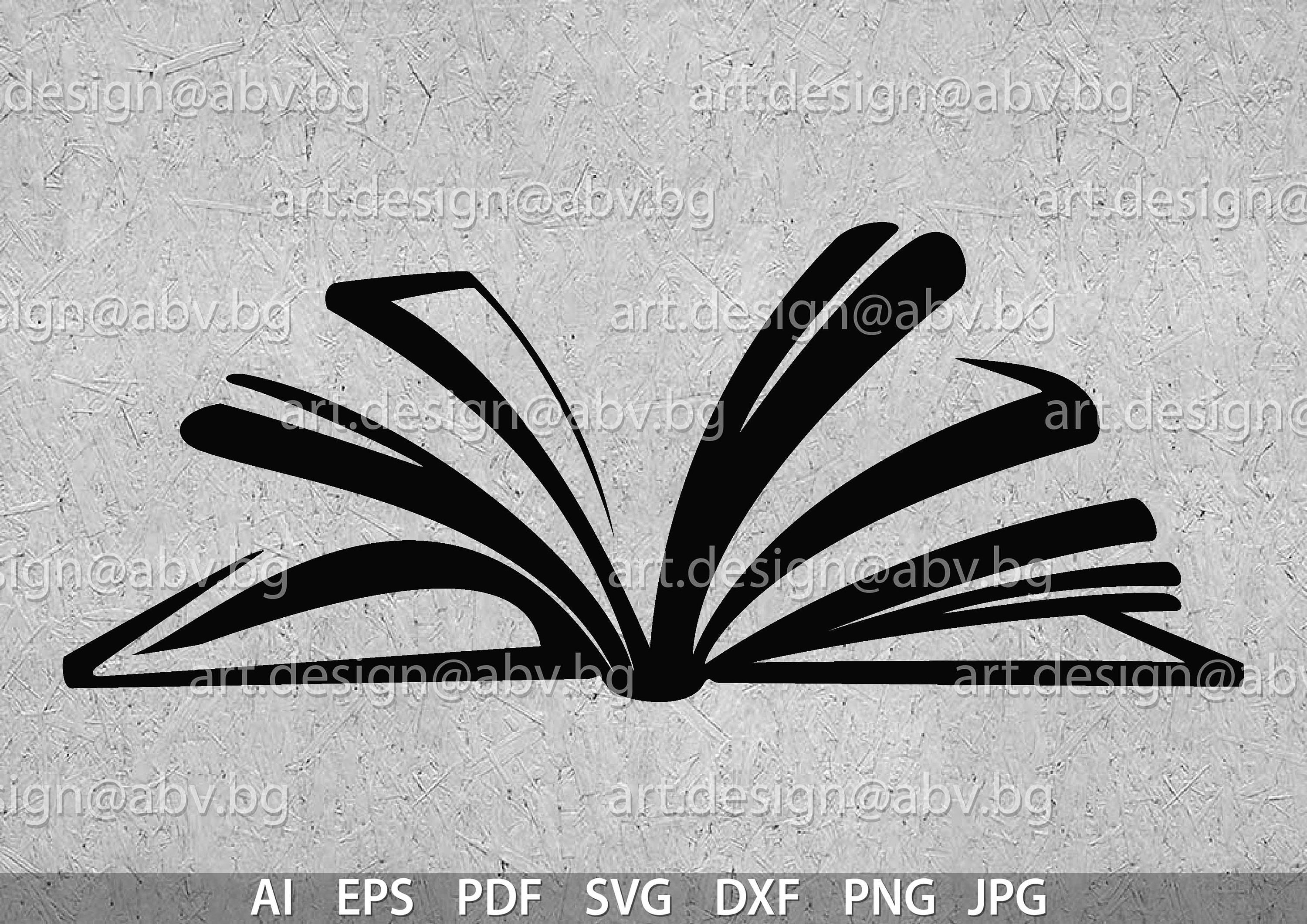 vector open book ai eps pdf svg dxf png jpg download etsy
