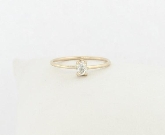 Ovale Form Oval Diamant Ring Ovaler Diamant Verlobungsring Etsy