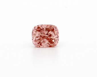 1.52 Ct Lab Grown Cushion Cut Fancy Pink Diamond