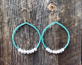 Dangle earrings - gemstone earrings