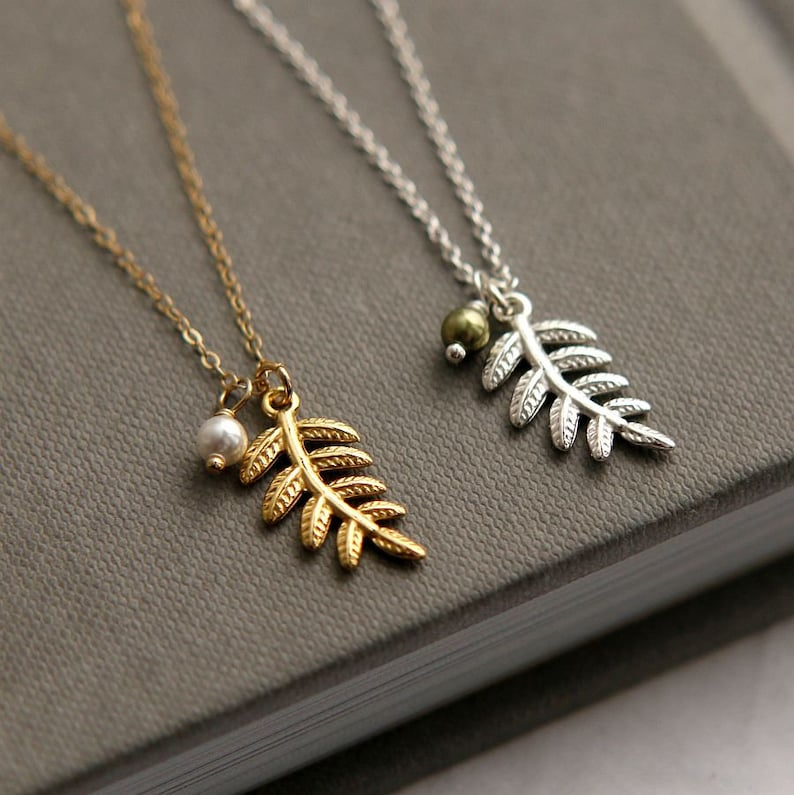 Tiny Sterling Leaf Charm Sterling Silver Tiny Leaf Silver Necklace Silver Leaf Leaf Necklace Dainty