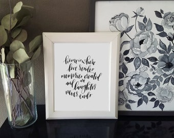 Love Resides // Home Quote 8x10 Calligraphy Print *DIGITAL DOWNLOAD*