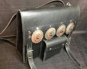 Western Bling  Crossbody  Mini Back Pack In Rust