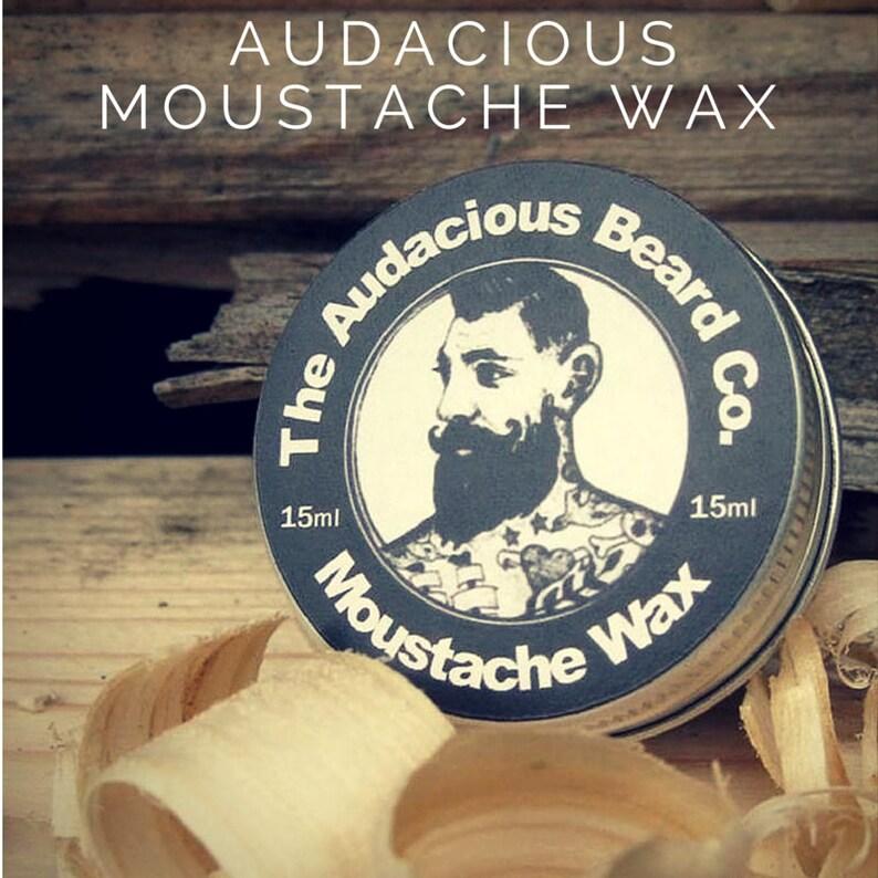 Moustache wax  The Audacious Beard Co image 0
