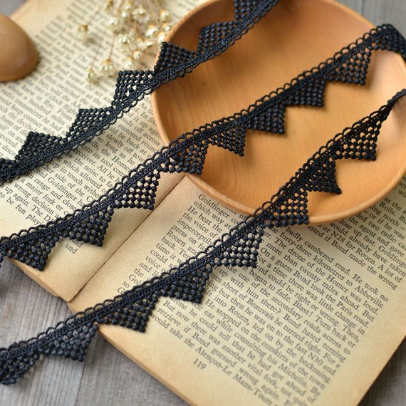 Exquisite heart embroidery lace trim ribbon price by the yard //select color//
