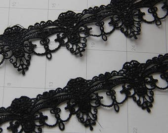2 Yards Exquisite Black Venice lace Trim Aulic Palace Lace Necklace Supplies 1.96 Inches Wide