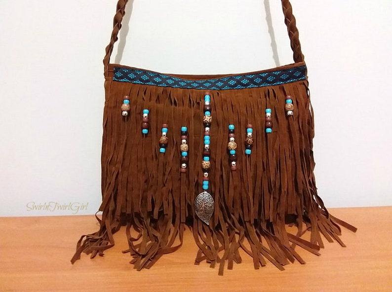 92102f1f6f Faux Suede Tassel Fringe Crossbody Bag Shoulder Bag for Women | Etsy
