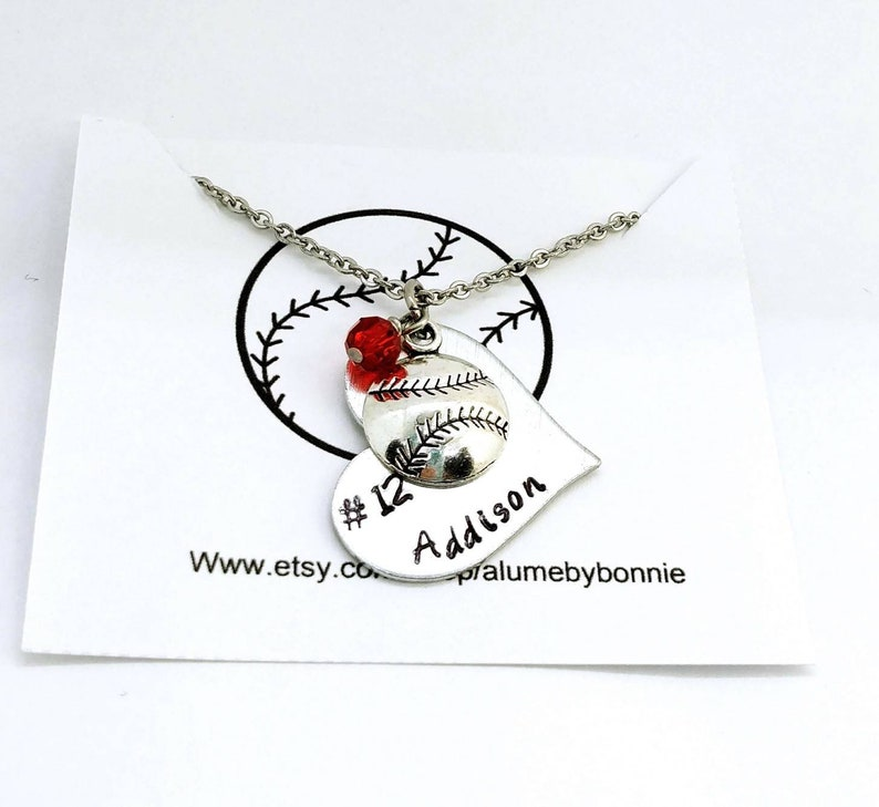 PERSONALIZED SOFTBALL NECKLACE Makes a Great Affordable End of Season Gift