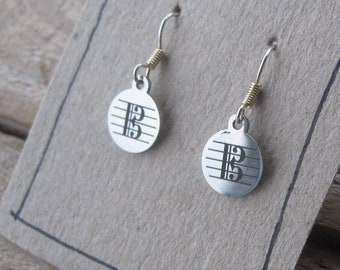 Alto Clef Earrings in Stainless Steel - Gift for Violists