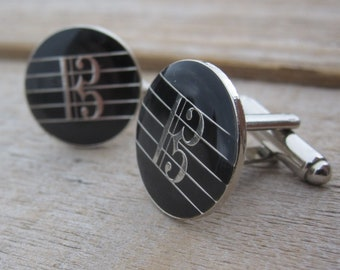 Alto Clef Cufflinks for Violists - Gift for Viola Player