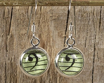 Bass Clef Dangly Drop Earrings for Cellist, Bassists, Trombonists, Tuba Players...