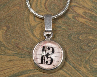 Alto Clef Mini Pendant Necklace for Violists on Silver Plated Snake Chain