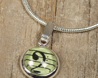 Bass Clef Mini Pendant Necklace - Cellist or Bassist Gift