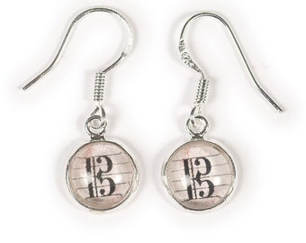 Alto Clef Dangly Drop Earrings - Gift for Violists