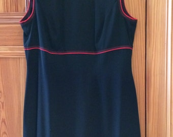 Escada black dress with red embroidery detailing - never worn - Euro 40