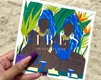 VIBES original painting on canvas paper