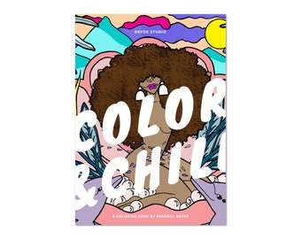 COLOR & CHILL printable coloring book