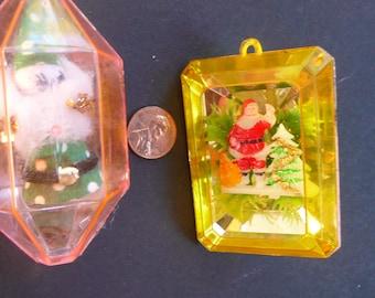 2 Diorama Ornaments