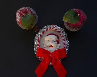Santa and 2 Sugared Apples