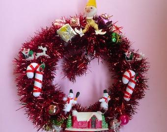 Red Pixie Wreath