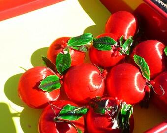 10 Piece Red  Silk Ornaments