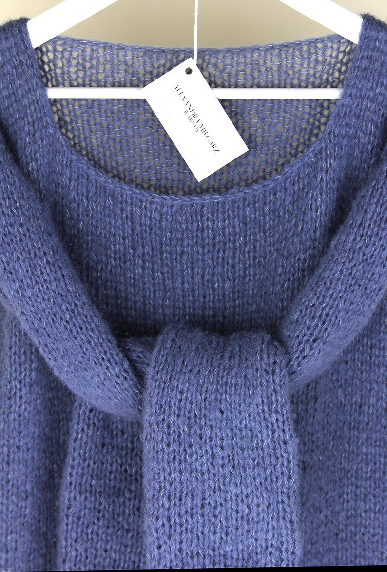 cfba491a5 Silk-Baby Alpaca Sweater Cozy Sweater Handknitted Sweater
