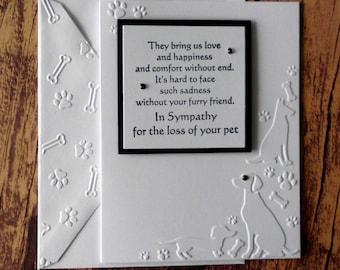 pet sympathy card etsy