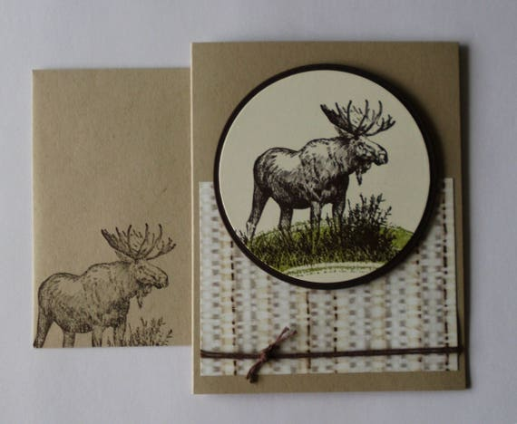 Masculine Birthday Card For Him Brown Stampin Up Walk In The Etsy