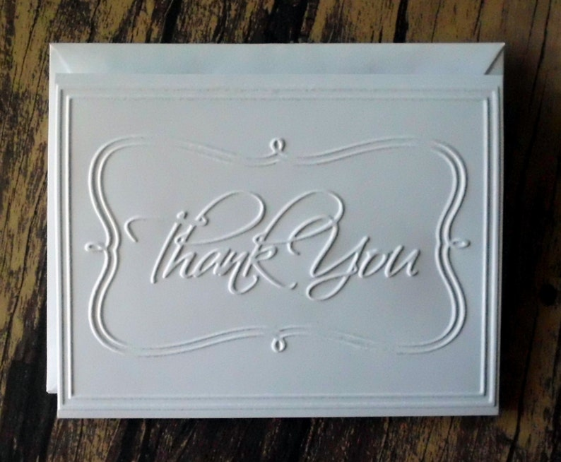 Wedding Thank You Cards Graduation Thank You Cards Blank Thank You Note Cards Thank You Card Set of 5 Embossed Christmas Thank You Cards