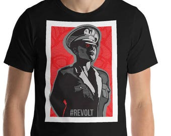 REVOLT Political Art Propaganda Style Short-Sleeve Unisex T-Shirt