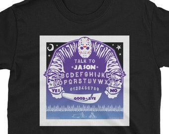 JASON the 13th / Jason Voorhees, Camp Crystal Lake / Horror Art Short-Sleeve Unisex T-Shirt