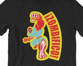 Zombifico!  Zombie Luchador Art Short-Sleeve Unisex T-Shirt