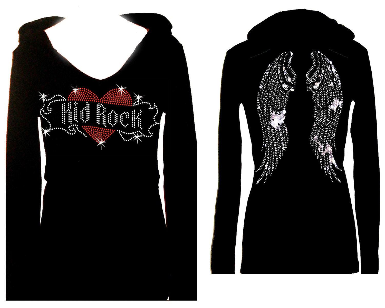 4da3b7ab4 Kid Rock Angel Wings All Rhinestone Womens Holiday Bling Tee ...