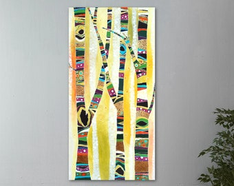 Abstract Wall Art, Top Selling, Home Decor, Colorful, Art Print, Trees, Canvas or Metal, Ready to Hang, Gift