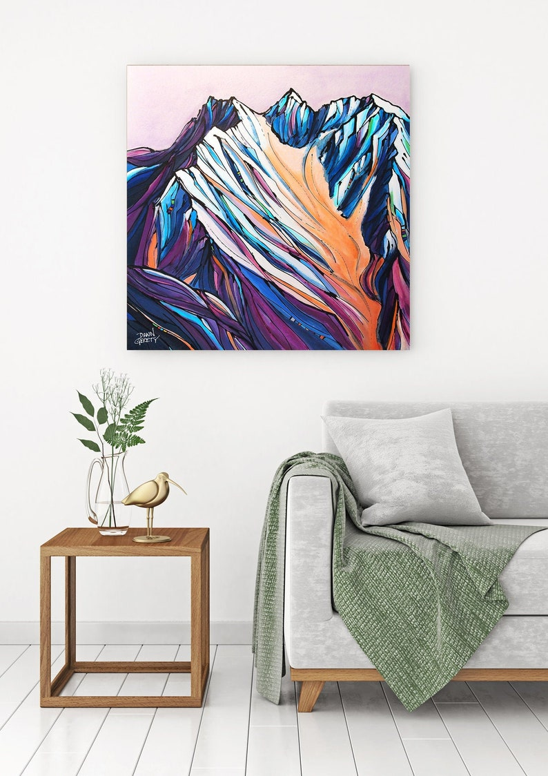 Mountain Wall Art Top Selling Home Decor Colorful Fine Art image 0